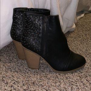 Black, studded heels
